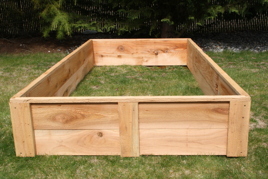 Cedar Raised Bed Garden Boxes made in the USA grow your own